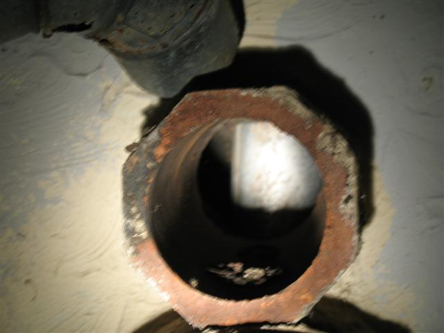 Blocked water heater flue