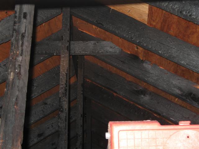 Fire in attic)