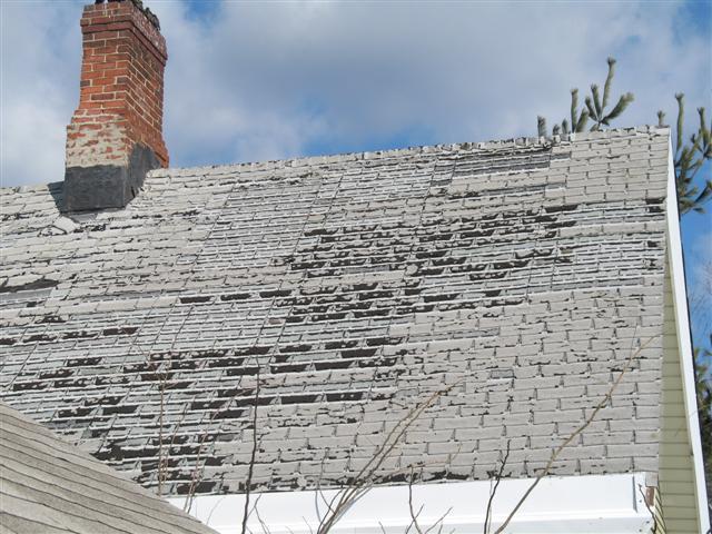 Roof erosion