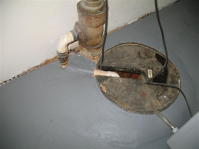 Sump pump  connection