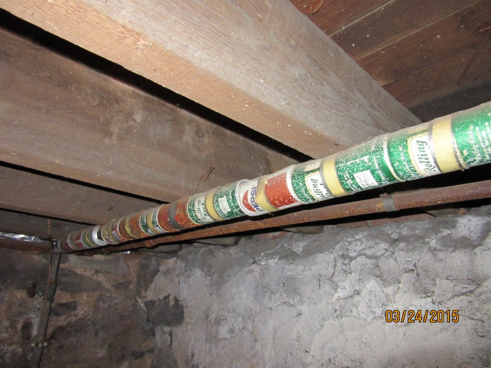 beer can pipe insulation