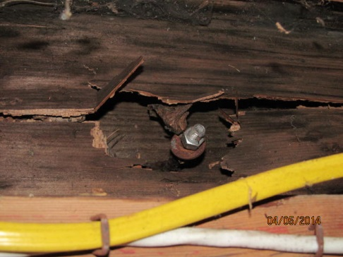 rotted deck ledger