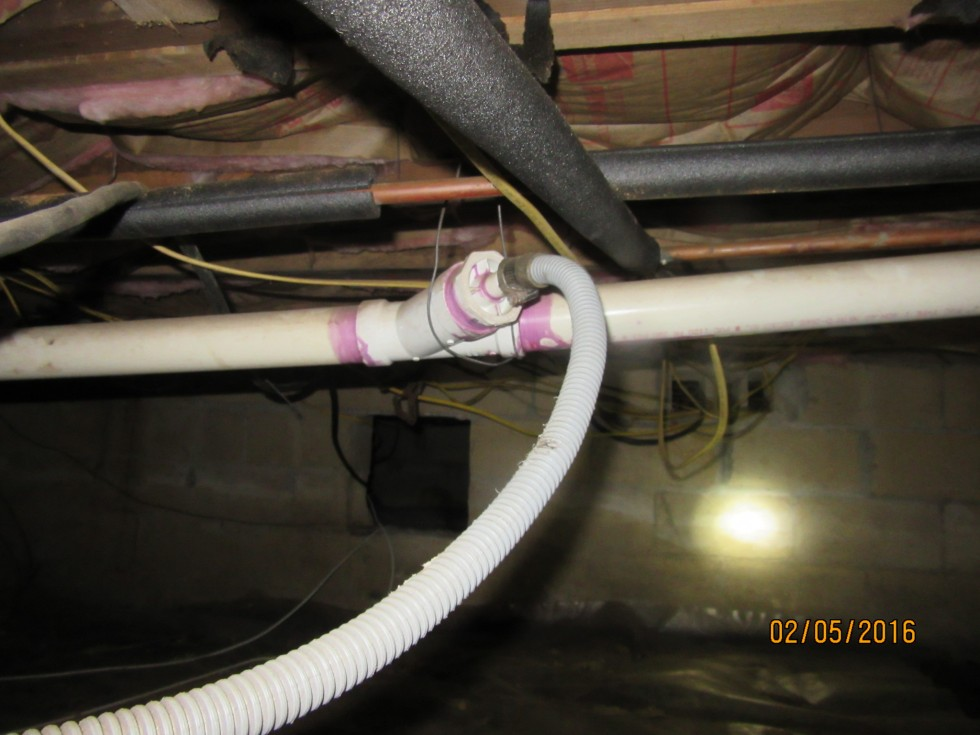 Sump pump to sewer